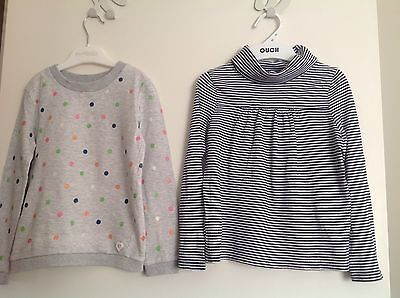 country road girls cotton skivvy top + eve's sister jumper. size 4-5