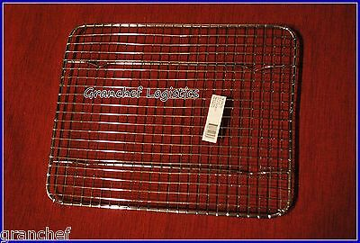 "Pan Grate w/ built in feet  ~  8"" x 10"" ~ 4 Roasting Meat ~  Used by Chefs ~ New"