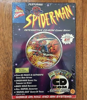 1995 Vintage SEALED MARVEL COMICS SPIDER-MAN INTERACTIVE CD-ROM COMIC BOOK • $5.95
