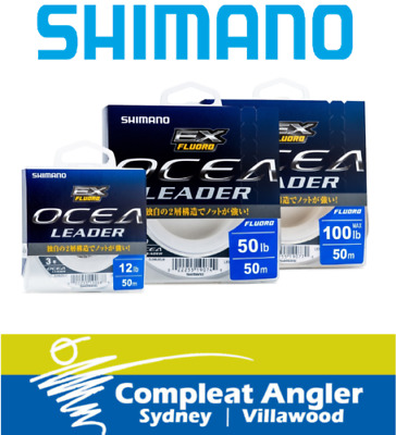 Shimano Ocea EX 50m VARIOUS SIZES Fluorocarbon Leader BRAND NEW At Compleat Angl