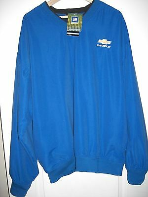 New W/tag Blue Pull Over Chevrolet Chevy Emblem Long Sleeve Pullover Jacket 2Xl