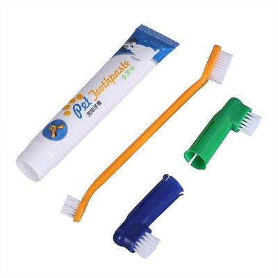 Pet Dog Cat Health Cleaning Teeth Oral Care Toothpaste+Toothbrush Kit Set Brush
