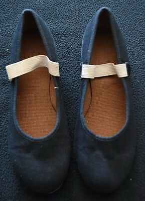 Low Heel Character Shoes Canvas Girls Sizes 5