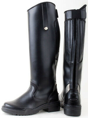 Rhinegold Nebraska Synthetic Strong Reflective Long Riding Boots