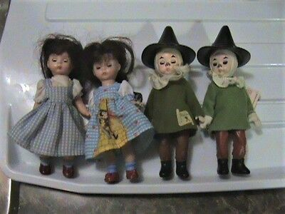 2 scarecrow and 2 Dorothy Types - 4 Madame Alexander Dolls Happy Meal Mcdonald's