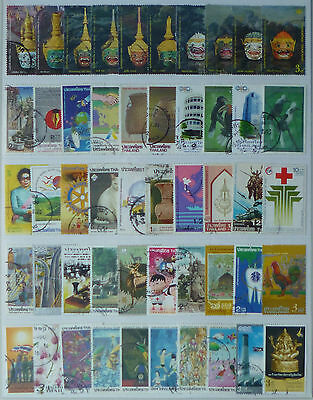 THAILAND STAMP COLLECTION PACKET of 50 DIFFERENT LARGE SIZE STAMPS USED (Lot 4)