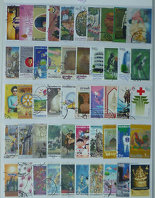 THAILAND STAMP COLLECTION PACKET of 50 DIFFERENT LARGE SIZE STAMPS USED (Lot 7)