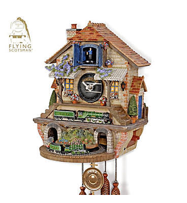 """The Flying Scotsman"" Train-Themed Cuckoo Clock"