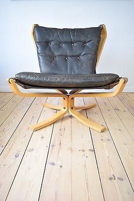 Sigurd Ressell Mid-Century Falcon Chair With Buffalo Leather