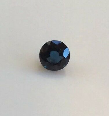 1 Pc Round Shape Cut Natural Sapphire 5Mm Top Aaa Gemstone