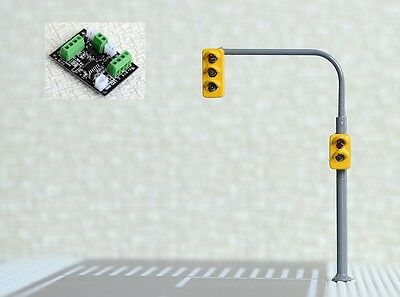 2 x Traffic Signal Street Lights + 1 Control Board HO OO Scale 6.5cm 4-20V