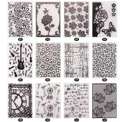 Lovely Pattern Plastic Embossing Folders for DIY Card Making Decoration Supplies