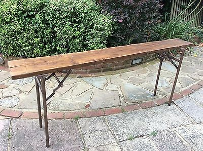 Antique Wooden Bench  Stool Display Shelf folding trestle