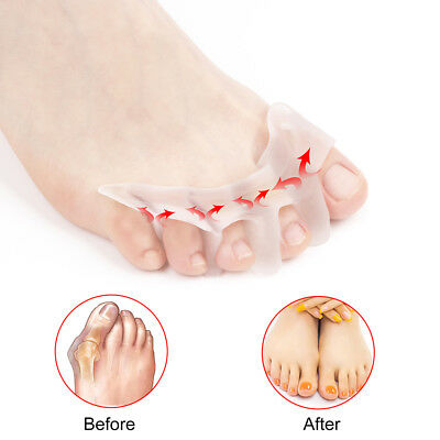 1 Pair Soft Gel Toe separators Spreaders Yoga Relax Stretcher Foot Feet Toe Care