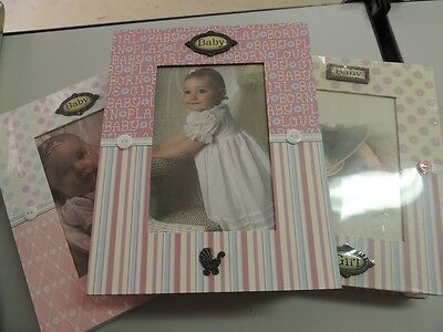 WHOLESALE BULK LOT 3x Gift Box Baby Girl Photo Album RRP $29.99 Each 1 lot only