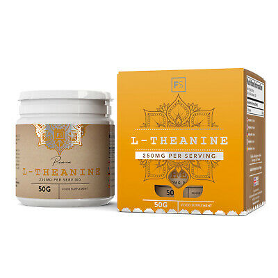 L-Theanine  |  Pure Powder  |  100g  |  Promotes Cognition, Calm and Relaxation
