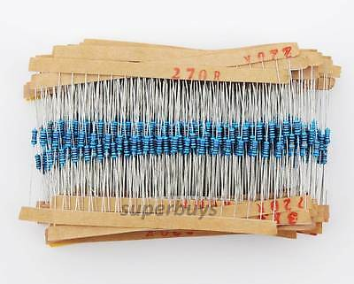 600pcs Metal Film Resistor 30 Values 1/4W Electronic High Frequency Kit Set Pack