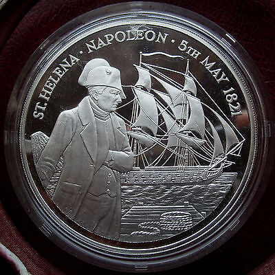 St. Helena & Ascension 1986 silver proof 25 pounds
