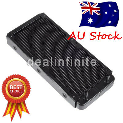PC Computer Radiator Water Cooling Cooler for CPU LED Heatsink 240mm Aluminum AU