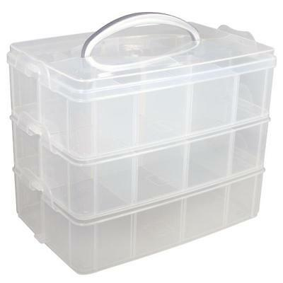 Storage box, Sorting box with carrying handle, 23,1 x 15,6 x 18,5cm