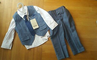 Monsoon Blue 4 Piece Formal Suit for 12-18 Month Boy