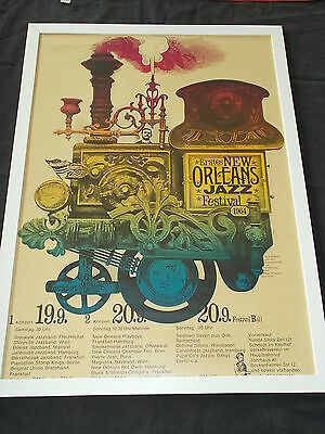+++ 1964 FIRST NEW ORLEANS JAZZ FESTIVAL Poster by KIESER & MICHEL