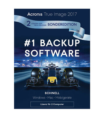 Acronis True Image 2017, Sonderedition 1+1(2 Geräte)Dauerlizenz, PC/Mac,Download