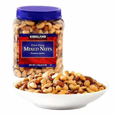 Kirkland Mixed Nuts 1.13kg Tub Almonds Cashews Macademia Brazil nuts Pecans