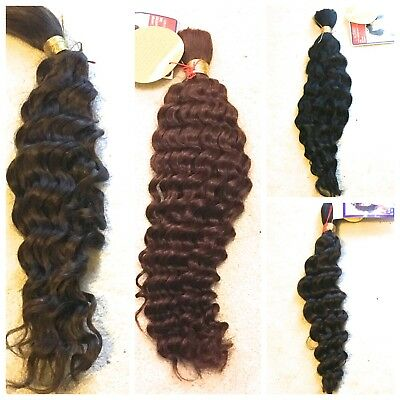 100% HUMAN HAIR FRENCH BULK -  LA TREND 16 and 18 Inches WET and WAVY