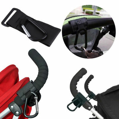 2Pcs Baby Stroller Pushchair Pram Mommy Hanger Hooks Stroller Accessories Black