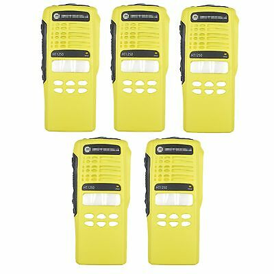 5x Yellow Repair Case Housing For Motorola HT1250 Limited-keypad Portable Radio