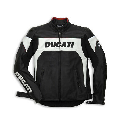 DUCATI Dainese HI-TECH Lederjacke Jacke Leather Jacket perforiert schwarz NEU !!