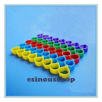 50Pcs Bird Rings 16mm Leg Bands for Chicken Chicks Poultry Multi-Colors Leg Band