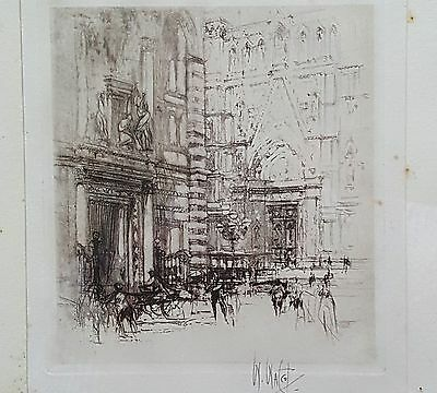 """Signed Limited Edition Etching1920 - """"The Baptistry, Florence"""" by William Walcot"""