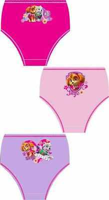 Official Paw Patrol 'Sky & Everest' Girls Briefs Pants Knickers 3 Pack - Cotton