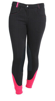RED HORSE Ladies Leather Knee Patch Breeches - 'Mia'
