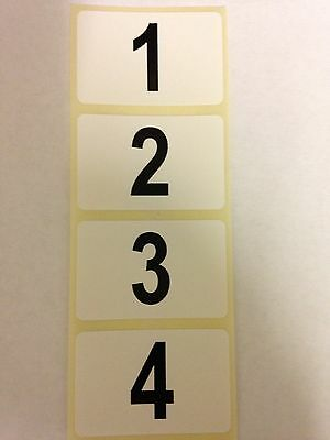 Roll 1600 Sequential Number Labels,Stock Take,  Self Adhesive, Numbers 1-1600