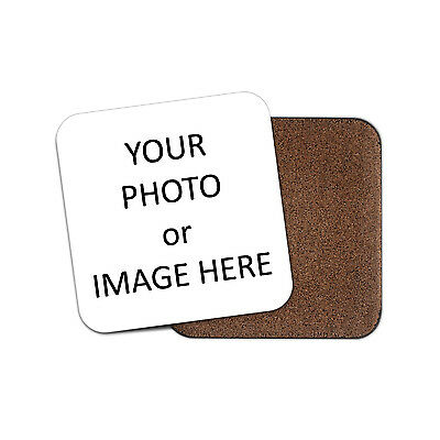 Custom Personalised Bar Drink Coaster - Quality Cork Base - Round or Square