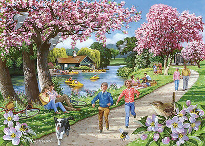 The House Of Puzzles  500 BIG PIECE JIGSAW PUZZLE  Apple Blossom Time Big Pieces
