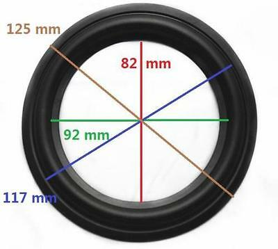 "5"" 5inch 125mm High Quality Speaker Surround Repair Rubber Edge Replacement"