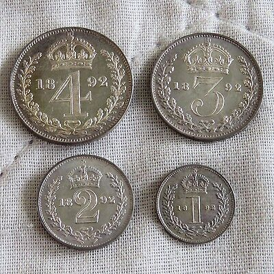 1892 Queen Victoria Jubilee Head 4 Coin Maundy Set