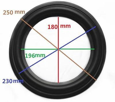 "10"" 10inch 250mm High Quality Speaker Surround Repair Rubber Edge Replacement"