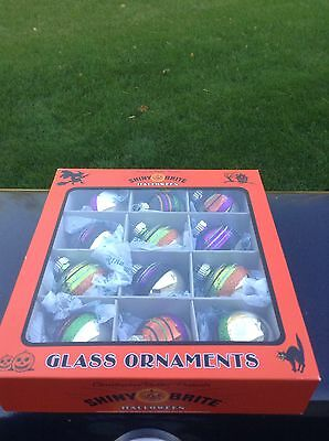 Shiny Brite  Halloween Glass Ornaments 12