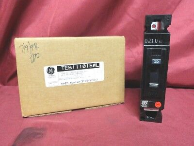 New WESTINGHOUSE TEB111015WL 15 AMP Circuit BREAKER 120VAC 1POLE CIRCUIT BREAKER