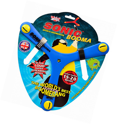 Wicked Sonic Booma, triple boomerang, 3 sided, flying toy, outdoor garden throw
