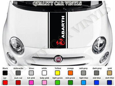 FIAT PUNTO ABARTH BONNET RACING STRIPES GRAPHIC DECAL STICKERS VINYL BS97