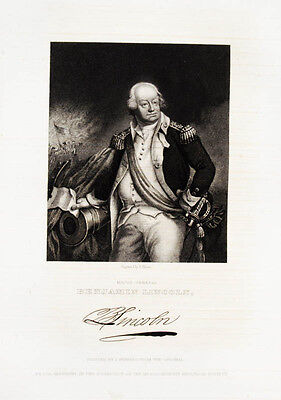1835 Benjamin Lincoln Steel Engraving Portrait by Illman after Herring