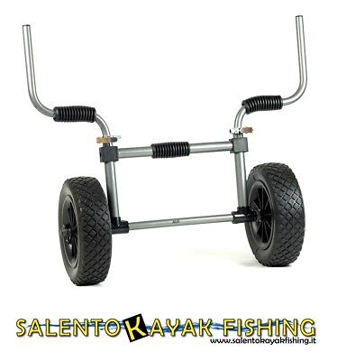 Carrello Professionale Per Kayak Sit On Top - Kayak Cart Trolley - Gomme Piene