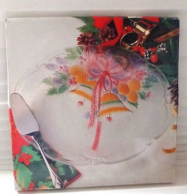 "MIKASA 14.75 "" Festive Bells Hostess Platter, Holiday Christmas Table Decor VTG"