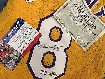 KOBE BRYANT Signed Autographed Lakers Nike Jersey PSA/DNA COA+Field of DreamsCOA